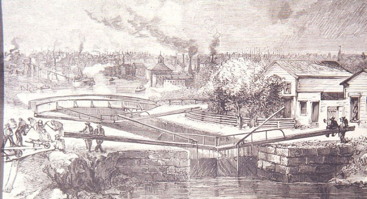 I&M Canal in Harpers Weekly 1871