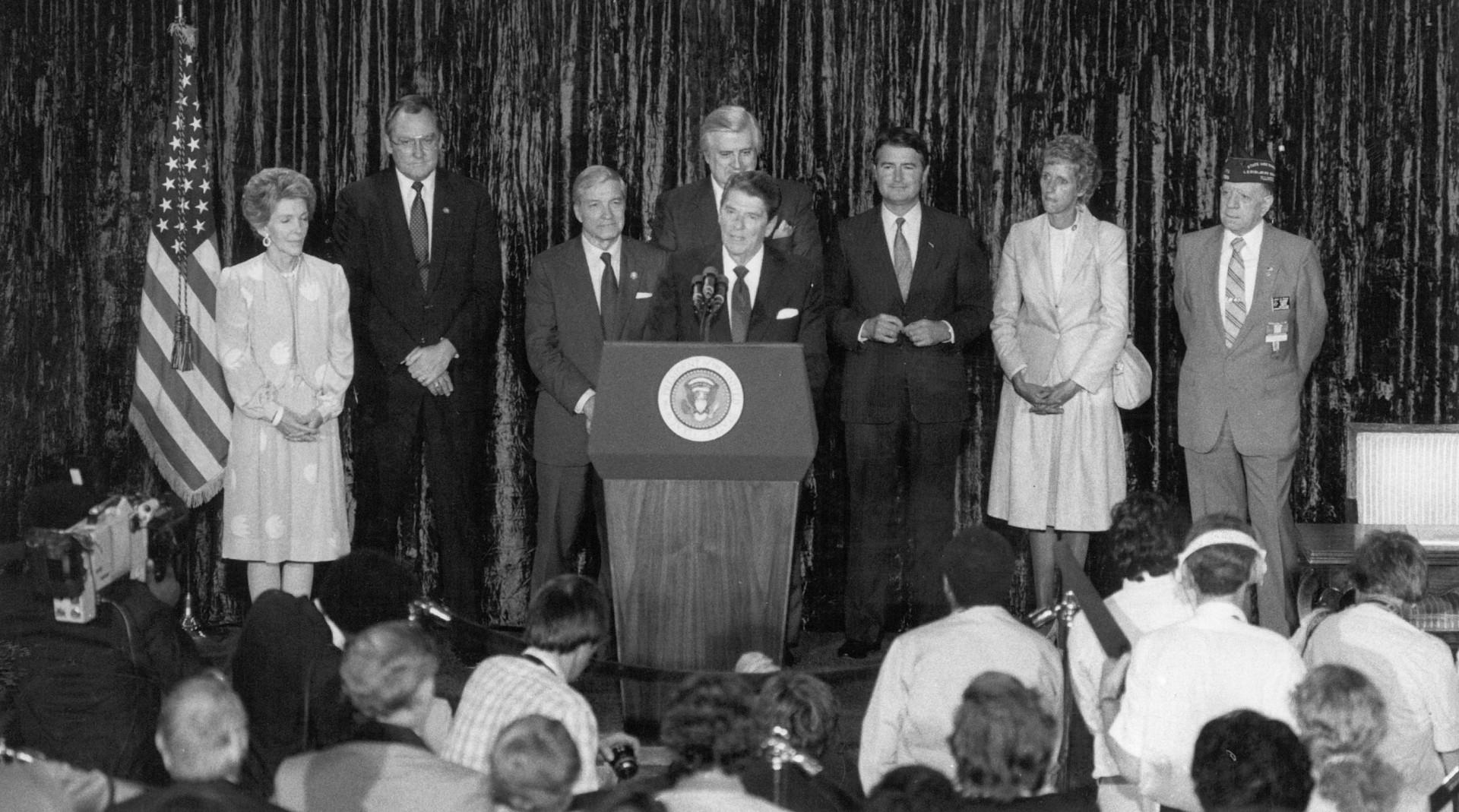 Reagan Signing IM Canal Legislation